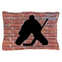 CafePress Hockey Goalie Brick Wall Pillow Case (1311780128)