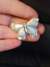 Vintage pewter butterfly tac pin beautiful jewelry butter fly brooch