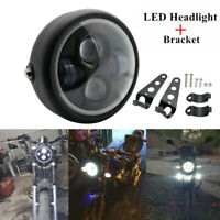 "6.5"" Motorcycle Headlight Hi/Lo Beam LED Lamp With Bracket For Harley Cafe Racer"