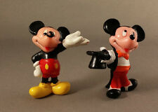 2 Mickey Mouse Varied Figures Walt Disney Applause Vinyl Cartoon Character Toys