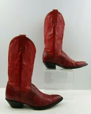 Ladies Tony Lama Red Lizard Pointed Toe Western Boots Size : 6 M