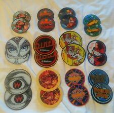 MIX LOT OF 24 Williams & Bally Pinball Promo Plastic Cover Coasters UNUSED NICE!
