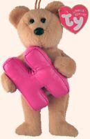 """TY Alphabet Beanies Letter H  Bear 6""""...NEW"""