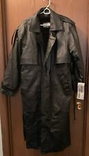 NWT Richie Leather Trenchcoat Black Men's Size Medium Removable Sherpa Liner