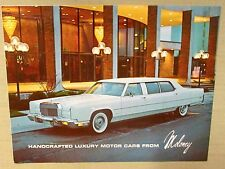 Vintage MOLONEY Limo SALES BROCHURE METCALF REIS LINCOLN MERCURY BURLINGAME CA