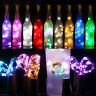 LED 2M 20 Flaschenlicht Weinflasche Kork Weihnachte Lichterkette Party Nachlicht