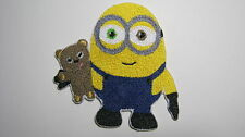 DESPICABLE ME MINION WITH HIS TEDDY BEAR 2015 EMBROIDERED PATCH SEW IRON ON