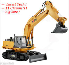 Radio Remote Controlled Construction Excavator Bulldozer Digger Truck 11 Ch UK