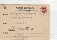 latvia 1935  3 lions stamps card ref 21064