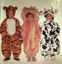 VINTAGE CUT 1995 'BUTTERICK' LION TIGER COW JUMPSUIT COSTUME 4115 CHILD 1-4