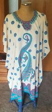 "CLEOPATRA Tropical Design Beach Coverup/Dress* Size ""Free Size"" *Comfy* NWT"