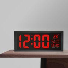 LED Digital Wall Clock Large Screen Calendar Thermometer Modern Electronic Clock
