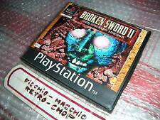 BROKEN SWORD II PLAYSTATION PS1 RARE RENTAL VERSION NOLEGGIO EDIZIONE ITALIANA!