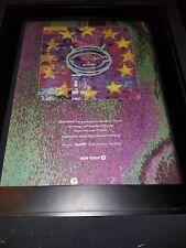 U2 Zooropa Numb Rare Original Radio Promo Poster Ad Framed!
