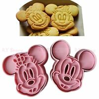 4pcs Cute Mickey Mouse Design Baking Cookie Fondant Cake Biscuit Mold Tools