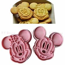 2pcs Cute Mickey Mouse Design Baking Cookie Fondant Cake Biscuit Mold Tools