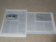Mitsubishi DA-F20 Tuner Review, 2 pgs, 1980, Full Test