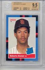 1988 Donruss Roberto Alomar HOF (Rookie Card) (#34) (All 9.5 Sub Grades) BGS9.5