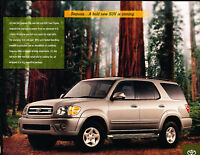 2000 Toyota Sequoia SUV Promo Sales Brochure Sheet