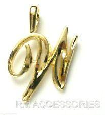 W Charm Cursive Letter Pendant EP Gold Plate with a Lifetime Guarantee!