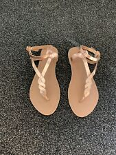 New Look Rose God Real Leater Flat Sandals Size 4