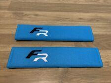 2X Seat Belt Pads Blue Gifts Seat Leon FR Cupra Ibiza Altea Sport K1 Ateca Sport