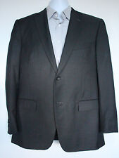B-711 Zegna Men Woolen Suit Jacket Dark Gray 84% WOOL 16% MOHAIR Made of Mexico