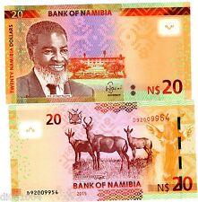 Namibie NAMIBIA Billet 20 Namibia DOLLARS 2015 P12 HARTEBEEST / GAZELLE NEUF UNC
