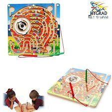 Kids Wooden Toy Magnetic Maze Pen Labyrinth Educational Puzzle Party Games UK
