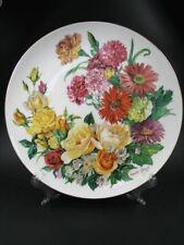 256) Hutschenreuther Porzellan Zierteller Grande Finale 90 Blüten U. Band 7368 A