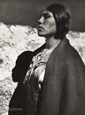 1934 Vintage Print PERU Proud Native Indian Woman Costume Ethnic Photo Art 11x14