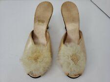 Vintage 50's Daniel Green Silk Satin Pin Up Boudoir High Heels Size 7 Costume