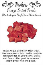 Freeze Dried Food - Black Angus Beef Stew Meat (uncooked) - Camping - Survival