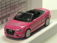 HERPA AUDI A3 Cabrio, rosa, 20. Monedero INGOLSTADT 2013 , Lim. 666 Pieza - 1:87