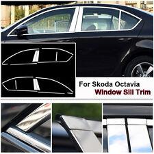 Full Window Middle Pillar Molding Trim Stainless Steel For Skoda Octavia 2016