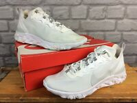 NIKE MENS REACT ELEMENT 55 SE WHITE SILVER TRAINERS RRP £115 VARIOUS SIZES T