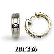 Pendientes de joyería con diamantes en oro amarillo