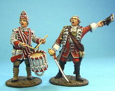 JOHN JENKINS QB05 BATTLE ABRAHAM BRITISH 47th REG OFFICER & DRUMMER 2 FIGS MIB