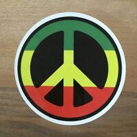 2x Peace Jamaika Frieden Aufkleber Sticker Hippie Marihuana Marijuana DIY Hope