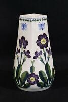 a6ß ROYAL COPENHAGEN ALUMINIA - Fajance Keramik Vase 'Blumenmalerei' um 1905