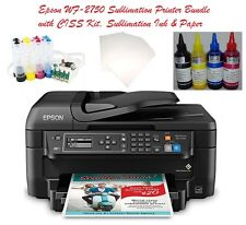 Epson WF-2750 Sublimation Printer Bundle with CISS Kit, Sublimation Ink & Paper