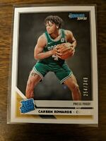 2019-20 Donruss Rated Rookie Press Proof Silver #231 Carsen Edwards RC 254/349