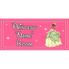 Signo De Puerta De Dormitorio Personalizado De Princesas De Disney Princesa Tiana – de & La Rana