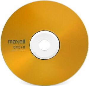 100 x Maxell Blank DVD+R Disc Plus r Region DVD Recordable Discs Silver Lined