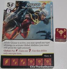 QUASAR THE COSMIC AVENGER 104 Guardians of the Galaxy Dice Masters Rare