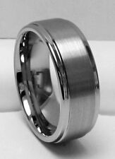 MEN 8MM TUNGSTEN CARBIDE SATIN FINISHED comfort fit ring size 12
