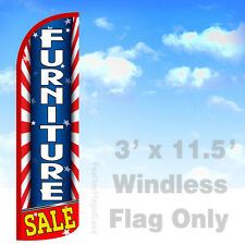 FURNITURE SALE- WINDLESS Swooper lag 3x11.5' Feather Sign- Starburst rq
