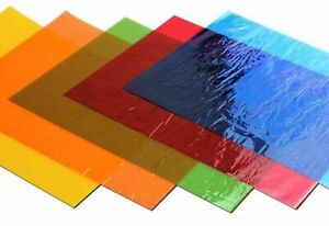 48 x A4 - Cellophane Sheets Assorted Coloured Gift Wrap Kids Art Craft