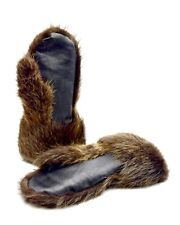 Long Men's Beaver fur Gauntlets