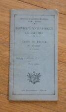SERVICE GEOGRAPHIQUE DE L'ARMEE CARTE DE FRANCE  1 : 20 000 : MOUTIERS N° 7 1930